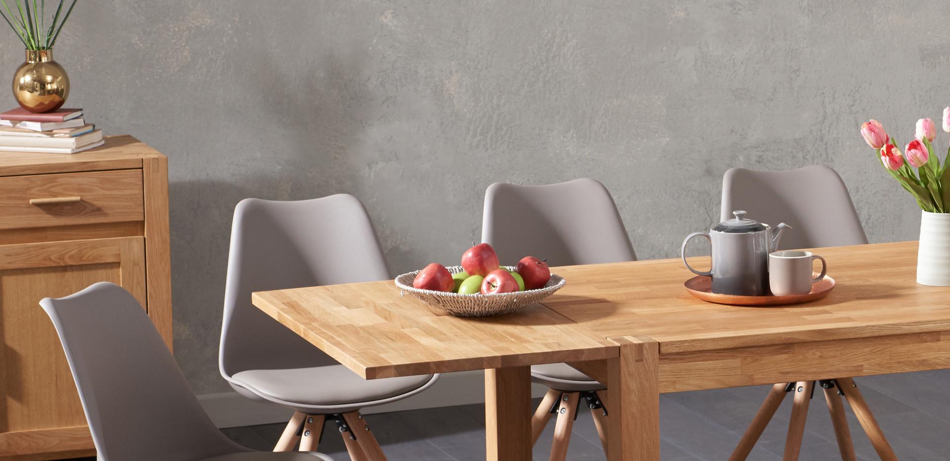 Dining room studio shot for Oak furniture Superstore