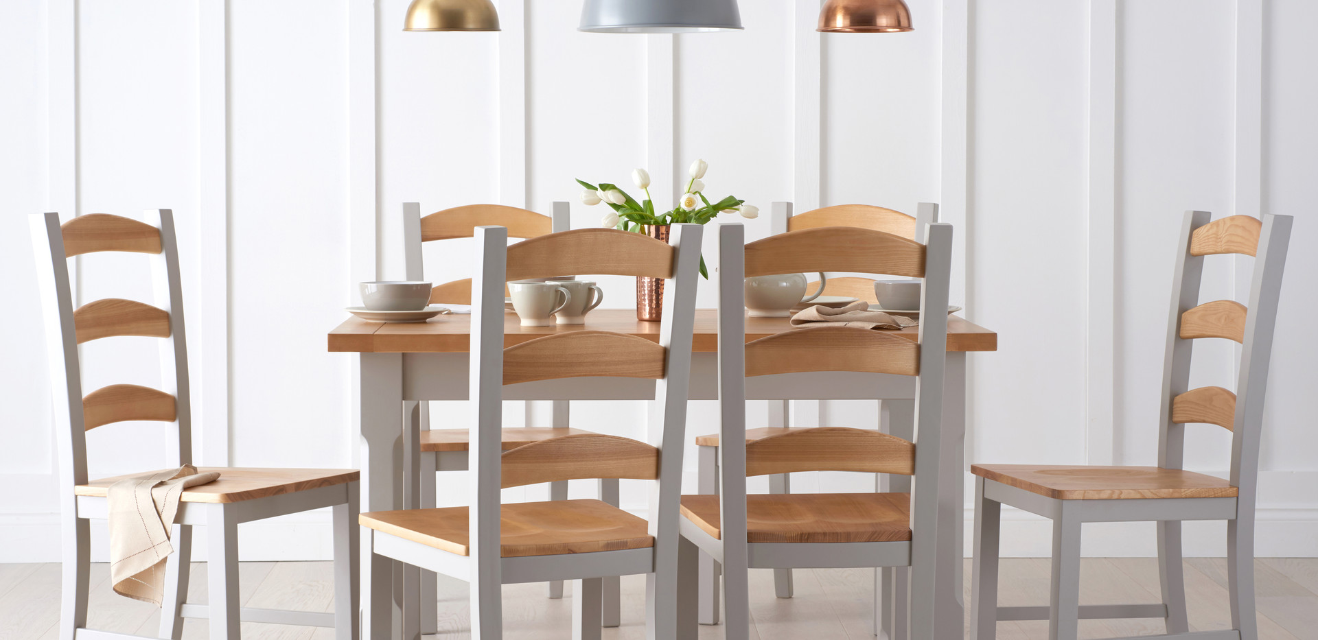 Breakfast dining studio shot for The Great Furniture Trading Company