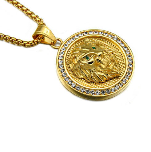 Gold lion pendant with chain flexwiththeice iced out gold lion pendant with chain aloadofball Choice Image