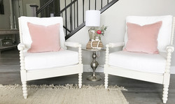 Pink and Cream Living Room