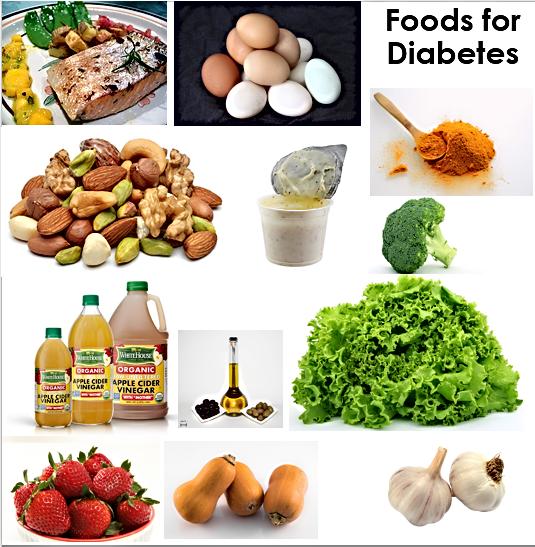 Foods for diabetes mellitus