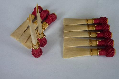 10  semi-finished bassoon reeds