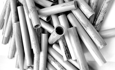 Tubes of cane for bassoon