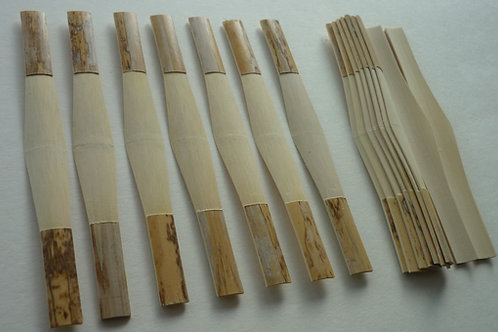 A bundle of 10 pieces  bassoon cane,gouged,pro​filed and shaped /dukovreedsGPS/