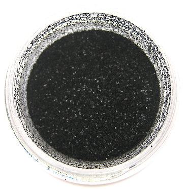 True Black Glitter Dust