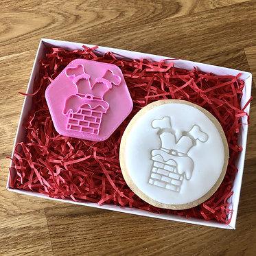 Santa's Legs Cookie Stamp