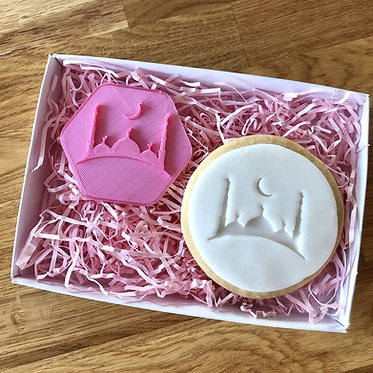 Crescent Moon and Mosque Cookie Stamps