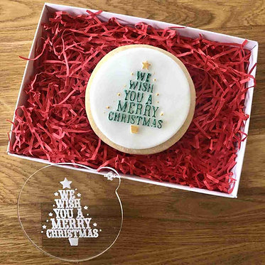 We Wish You A Merry Christmas Cookie Embosser
