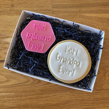 Best Grandpa Ever Cookie Stamps