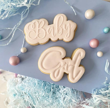 Girl Cookie Embosser or Stamp with Cutter