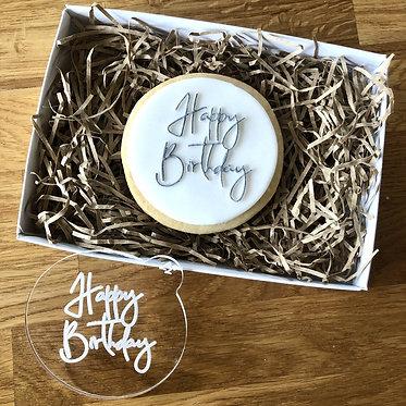 Happy Birthday Cookie Embosser