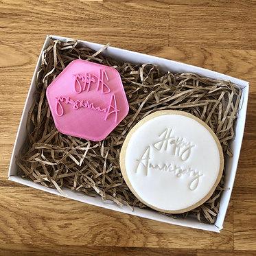 Happy Anniversary Cookie Stamp