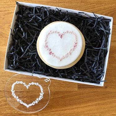 Floral Heart Cookie Embosser