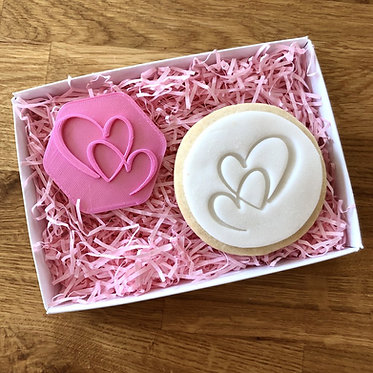Double Heart Cookie Stamps