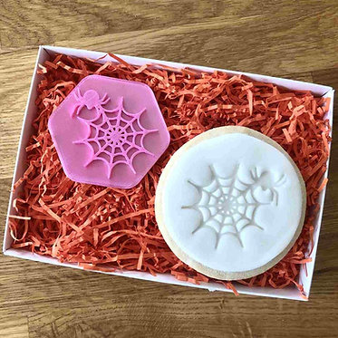 Spider and Web Cookie Stamp