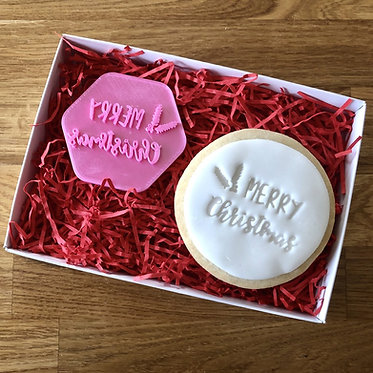 Merry Christmas Cookie Stamp