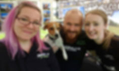 Bounders Dog Photography team Debs, Scrooby, Joe and Gemma - Come meet us