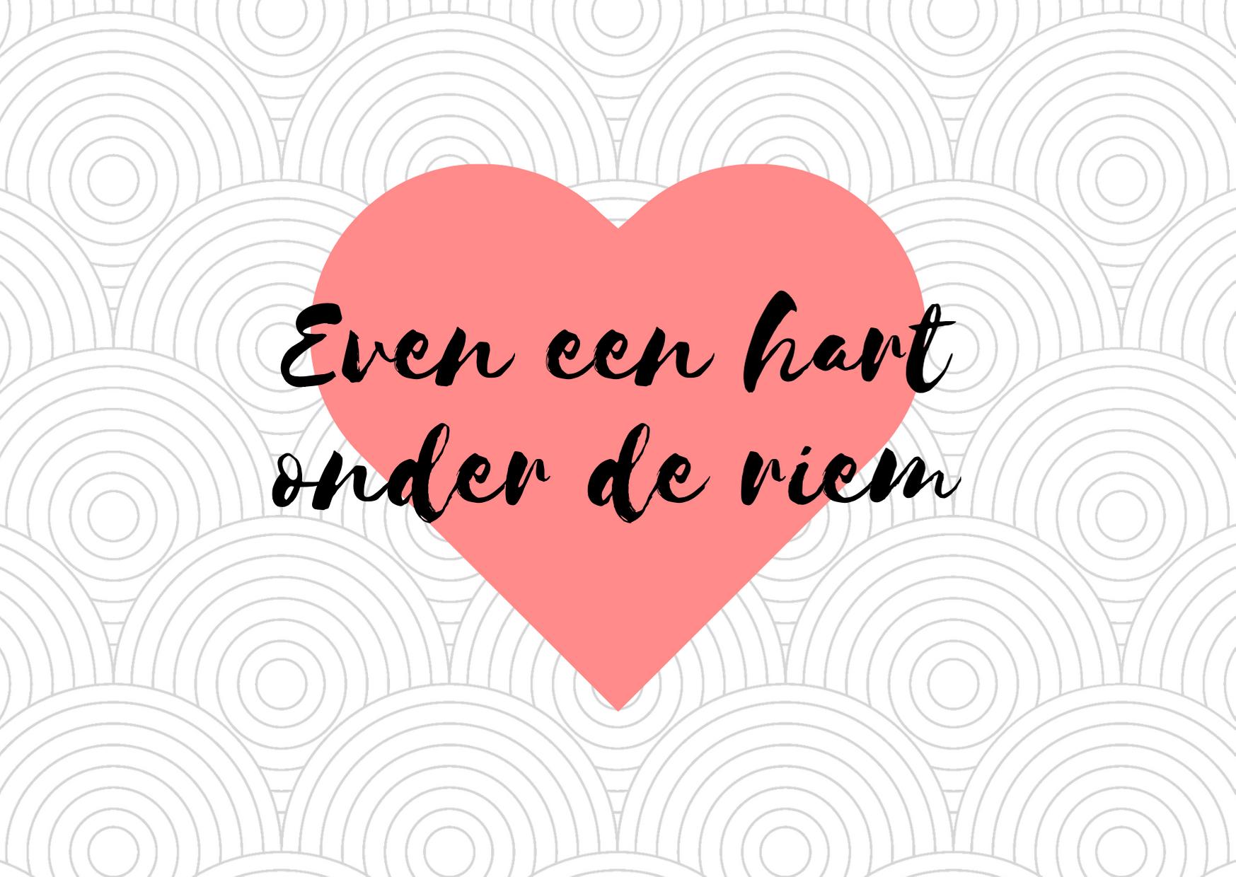 Even een hart onder de riem
