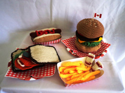 Knitted fast food