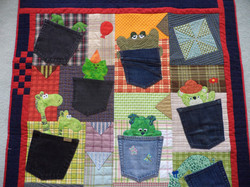 Treasures in Pockets quilt