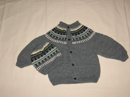 Fair Isle Yoke Sweater With Hat