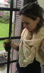 Mari, a merino shawl and mate