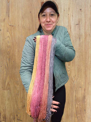 Alzira, happy with her dye work!