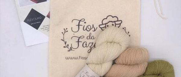 Flevoland Shawl Kit - Iris Alessi (portuguese)