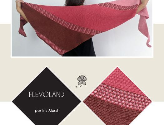 Flevoland Shawl Pattern - Iris Alessi, PDF (portuguese)