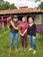Lu, Aline and Mari, at our backyard