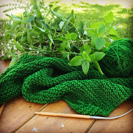 Knitting with merino and basil