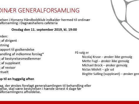 ORDINÆR GENERALFORSAMLING