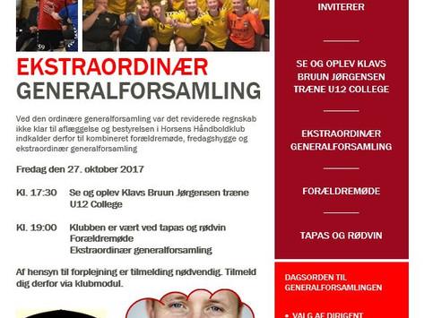EKSTRAORDINÆR GENERALSAMLING
