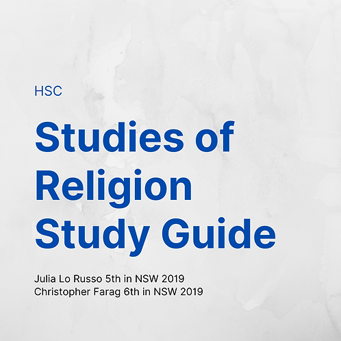 HSC Studies of Religion Study Guide by Julia Lo Russo/Chris Farag
