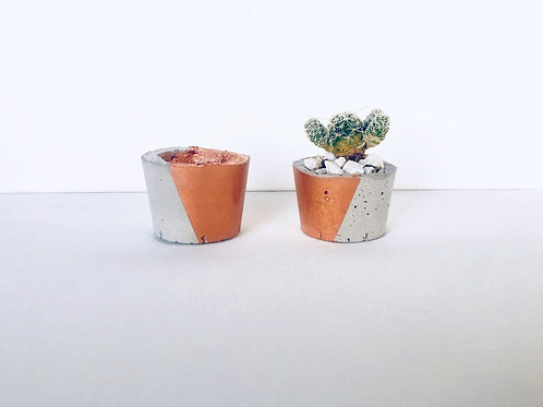 Small Handcrafted Concrete Planter