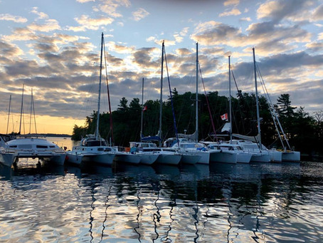 Sunset on the 1000 Islands Cruise 2019