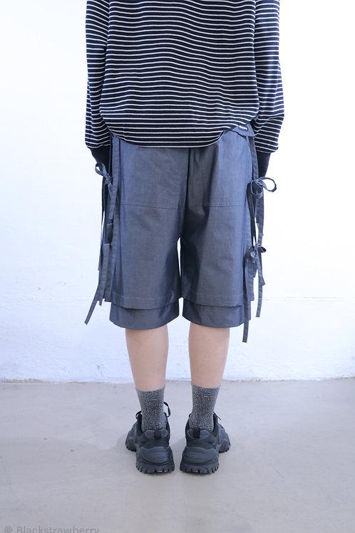 兩側蝴碟綁帶褲