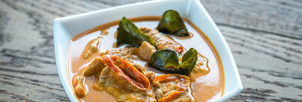 Schweinisches Panang Curry mit Jasminereis