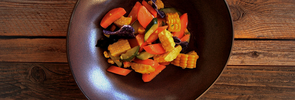 Mischgemüse Vegan – Karotten, Zucchetti, Mais