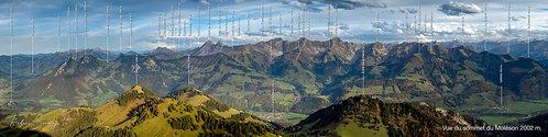 Poster Vanils avec nom de montagnes