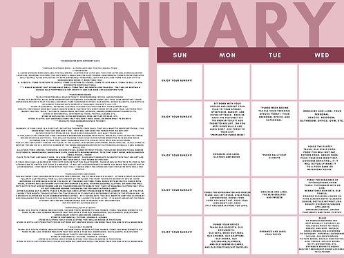 Get Your Environment Ship Shape January Calendar