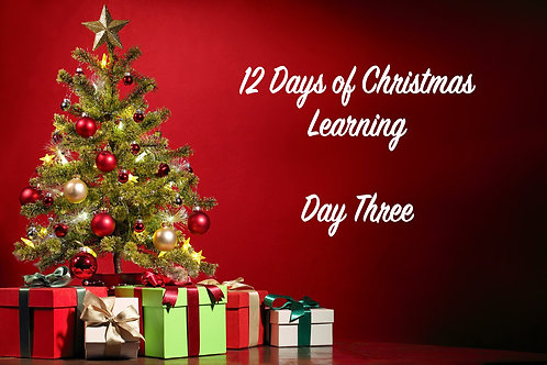 Third Day of Christmas Document PDF Download Only