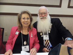 Director Blankenship with wife Carolyn At Convention in Yuma, AZ