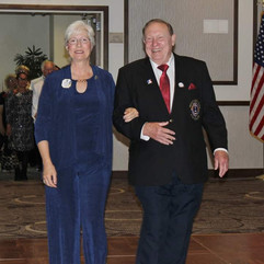 Doug and Mary walking in Grand March at 2019 4L6 Yuma convention