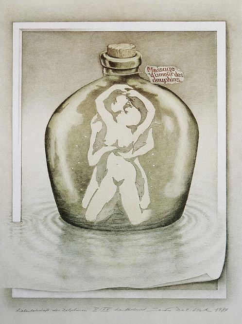 Lithographie: Liebesbotschaft der Delphine Nr.30/90