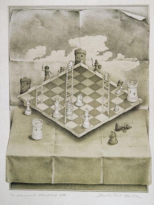 Lithographie: Das gekrümmte Schachbrett Nr. 60/90