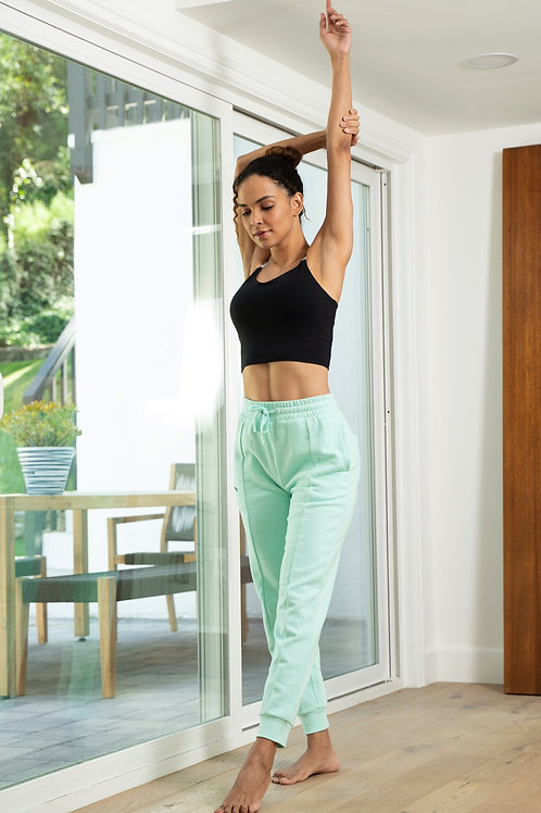 Rebody Pintuck French Terry Joggers - Smooth Mint