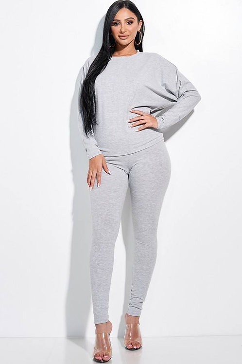 Dolman Sleeve Top And Leggings Two Piece Set