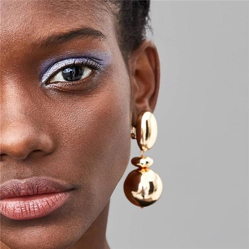 Bianca Ball Gold Drop Earrings