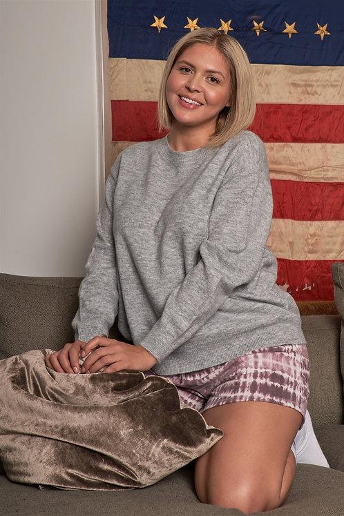 Ribbed Fleece Long Sleeve Sweater